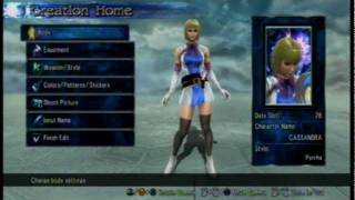 Soul Calibur 5 Character Creation