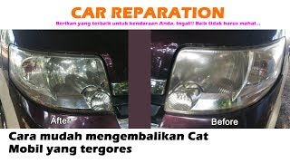 An easy way to restore scratched car paint #CarRestoration