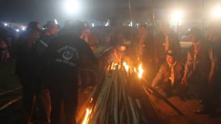village camp fire @ 11th national rover moot