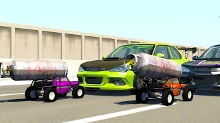 R/C EXPLOSIVE POLICE CARS TAKE DOWN SUPERCARS! - BeamNG Drive R/C Police Car Chase