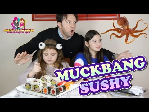 MUKBANG SUSHI E POLPO  EATING SUSHI  by Marghe Giulia Kawaii