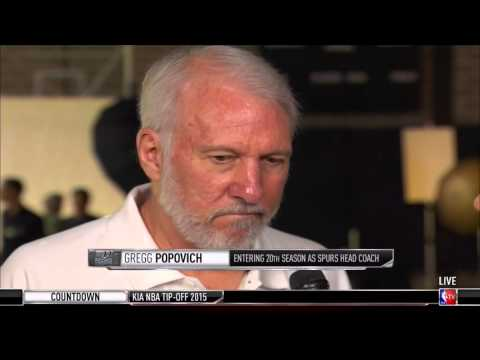 Gregg Popovich 2015 Spurs media day interview with NBA TV