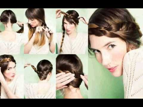 Recogido Trenza Pelo Corto  peinado