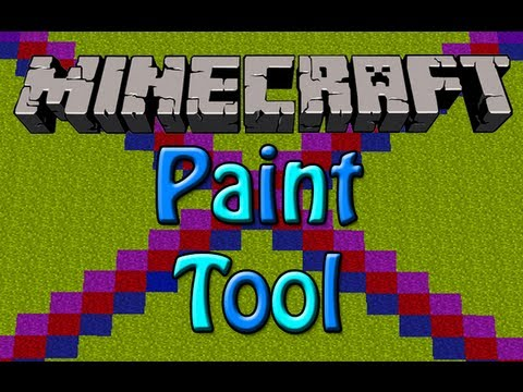 Minecraft Paint Tool Mod - Paint Blocks In Minecraft!! (HD)