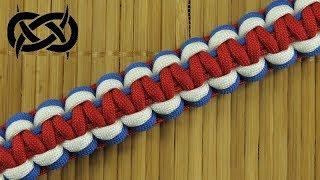 How to weave the Tri-Color Solomon Paracord Bracelet