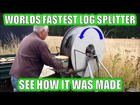 WORLDS FASTEST LOG SPLITTER WALK AROUND - HOW IT'S MADE