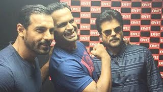 John Abraham & Anil Kapoor Promote Welcome Back @ Fever 104 FM