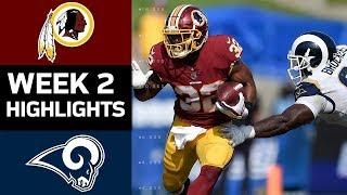Redskins vs. Rams | NFL Week 2 Game Highlights