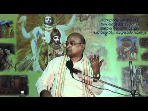 Day 7 of 7 Virataparvam by Sri Garikapati Narasimharao at Undrajavaram (Episode 24)