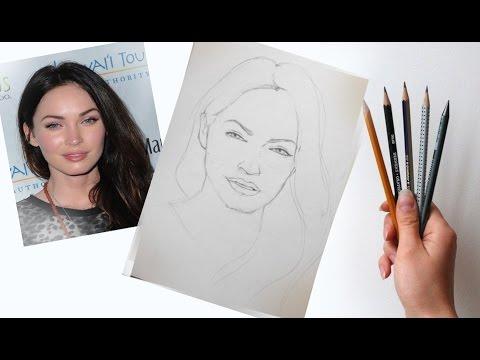 Видео как нарисовать портрет карандашом поэтапно