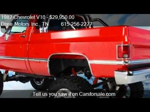 1987 Chevrolet V10 CUSTOM DELUXE 10 4x4 Truck - for sale in