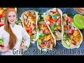 California Street-Style Grilled Pork & Peach Tacos