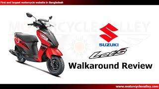 Suzuki Lets Walkaround Review    MotorcycleValley.com