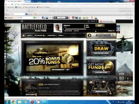 Battlefield Play4free : Free Legal Funds. Never Been That Easy[No Hack]