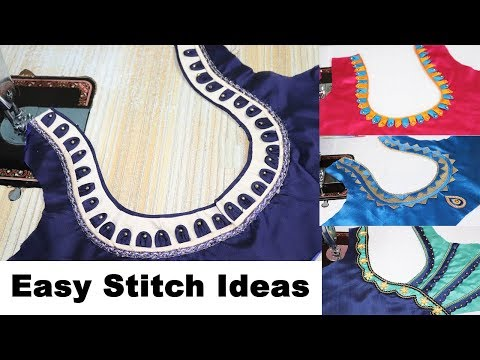 Easy Stitching Designer Ideas for Back neck Blouse Designs || Festivals / Functions Special