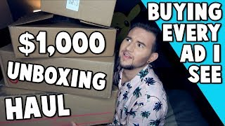 """Download Lagu UNBOXING ITEMS FROM """"Buying Every Advertisement I See"""" Gratis STAFABAND"""