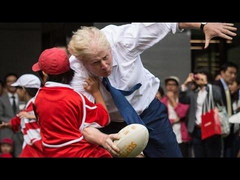 London Mayor Knocks Over Boy in Japan Rugby Game