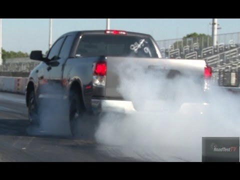 11 Sec Tundra TRD Supercharged vs 2012 Shelby GT 500 - Drag Video - Road Test TV