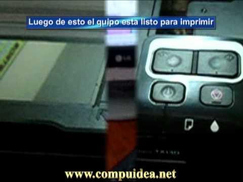 Reseteo de Cartuchos en Impresora Epson tx130/Tx120 con sistema Compuidea de Tinta Continua