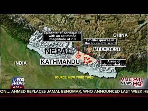 Earthquake : Massive 7.9 Earthquake strikes Kathmandu, Nepal and shakes Mt Everest (Apr 25, 2015)