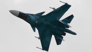 MAKS 2015 Su-34 Demoflight