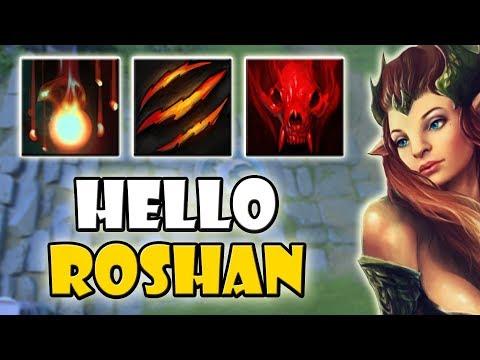 Perfect Ability Draft Roshan Build [Fervor + Fury Swipes] Dota 2