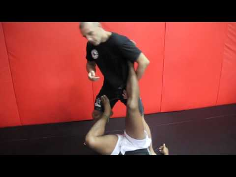 Sambo Technique - Sweep Leg Takedown 2 leg lock with Samboformma.com Silviu Vulc Image 1