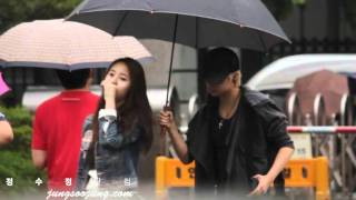 [110624] f(Amber & Krystal) @ On The Way for Music Bank (FANCAM)