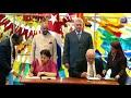 Recibe presidente cubano a su homologo indio, firman acuerdos de cooperación
