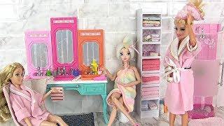 BARBIE BATHROOM MORNING ROUTINE ♦ PRINCESS BATHROOM  ♦ BARBIE SHOWER