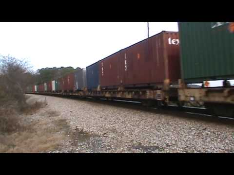 CSX southbound Military train (containers) at Lake Allatoona in Emerson,GA