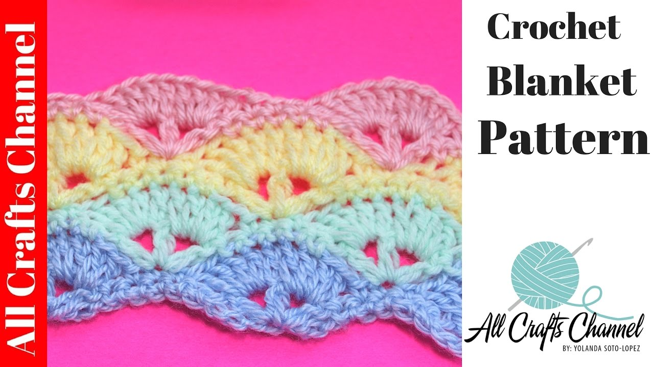 Learn to Crochet Baby Blanket Pattern subtitulos en Espanol  How To Crochet A Baby Blanket Tutorial