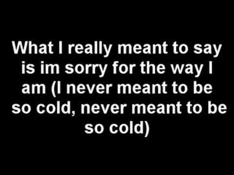 Cold - Crossfade Lyrics