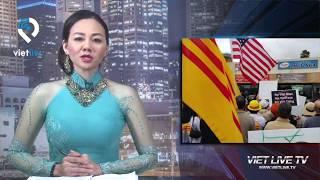 Little Saigon: Hàng trăm người biểu tình trung tâm Thúy Nga và VietFace TV