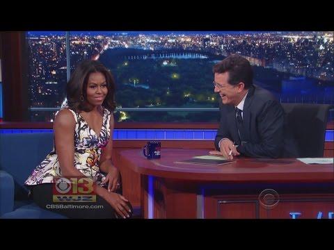 FLOTUS Talks Post Presidency, 'Let Girls Learn' Campaign On Colbert