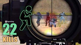 SNEAK ATTACK ON FULL SQUAD!!! | 22 KILLS | SOLO SQUAD | PUBG MOBILE