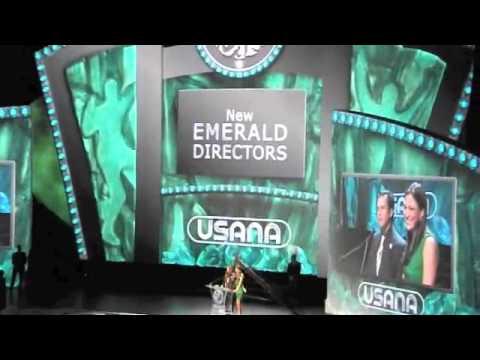 Paulina Septien y Armando Gómez en la Convención USANA 2012