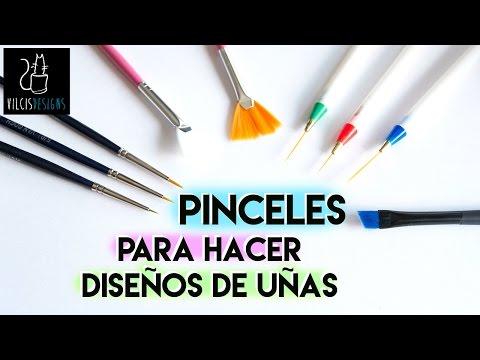 Pinceles para hacer diseños en las uñas / Nail art brushes