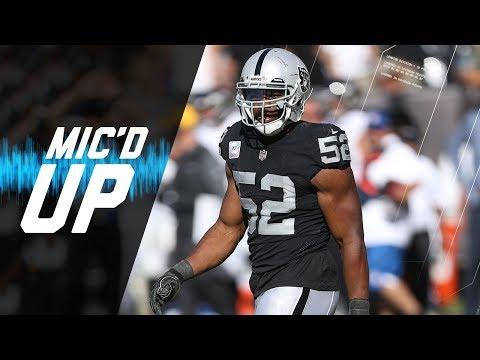 "Khalil Mack Mic'd Up vs. Ravens ""You Soft!"" (Week 5) | NFL Films | Sound FX"