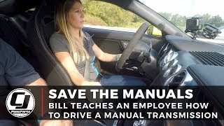 How To Drive A Stick Shift: Bill teaches an employee how to drive a Manual Transmission
