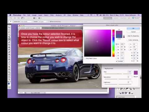 Photoshop: How to Change the Colour of an Object