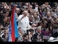 Pope Francis greets faithful after Easter Sunday Mass