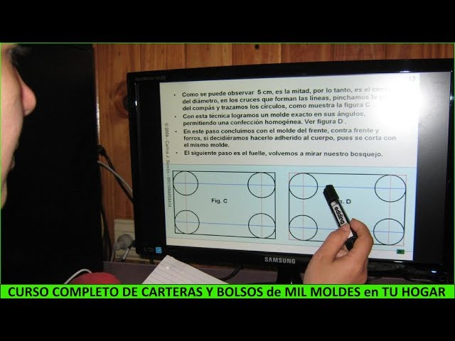 CURSO DE DISEÑO,  MOLDES Y CONFECCIÓN  DE CARTERAS Y BOLSOS
