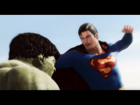 Superman Vs Hulk - The Fight  (part 1) video