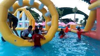 Asiknya Bermain Air, Permainan Anak-anak | Big Water Slide WaterPark Gofun - Song BABY SHARK DANCE