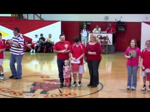 Newton County Academy Basketball Senior Night - 01/30/2011