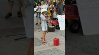 A cute girl playing DESPACITO on violin