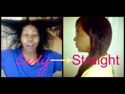 Natural Hair How To: Going From Curly to Straight with NO Heat