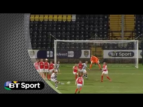 Notts County Ladies score a sublime dummy free-kick to outwit Arsenal Ladies. | FAWSL