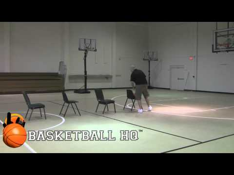 5 Chair 1 Dribble Crossover Reverse Pivot Drill